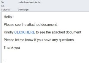 DocuSign email 1