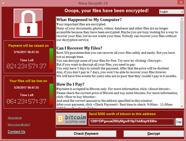 Protect yourself from WanaCry Ransomware WMD